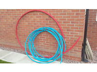 25m x 25mm Blue MDPE Water Pipe and Red Electricity Ducting