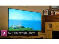 "Sony Bravia KDL-50W829B 50"" 3D 1080p HD LED LCD"