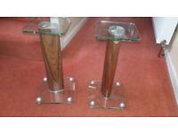 Modern Tech Link Tempered Glass Speaker Stand