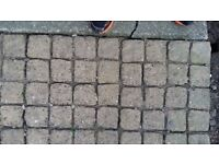 Small joined block paving stones x2 sizes