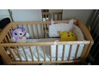 Baby cot for 20£, new , sofa and table and chair in 35£.