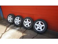 Peugeot alloys wheels with tyres