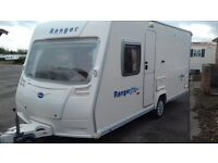 2007 FIXED DOUBLE BED. BAILEY 5 SERIES. EXCELLENT CONDITION FULL AWNING AND ALL ACCESSORIES FOR HOLS