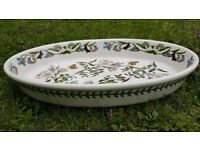 portmeirion large oval serving dish - rose, forget me not and butterfly
