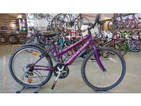 OLDER GIRLS BRISTISH EAGLE FIREFOX BIKE 24 INCH WHEELS 18 SPEED PURPLE GOOD CONDITION