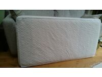 Natural coconut coir & wool mattress 140cm x 70cm for cot bed