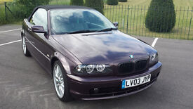 BMW 318 CI Auto Convertible 2003, 77k, Long Mot, 4 Keys & Service History £2795 Price Reduced