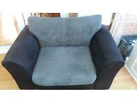 Black/grey cuddle chair . Very good condition.£60 ono