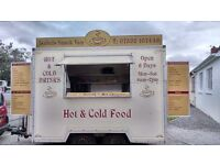 snack van and pitch for sale