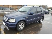 Mercedes ML320 Automatic 3.2L 7 Seater, T Reg 1999, 112000 Miles (Low Mileage), Very Clean, £1495