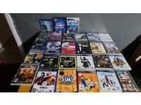 Various P21, PS2, PS3, PC and Wii Games and one Blu-Ray/PSP game.