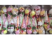 Pre made sweet cones