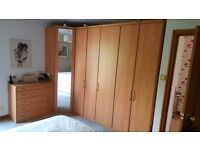 High Quality Bedroom units by Nolte finished in Honey birch