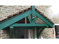 Wooden and Tiled Front/Back Door Canopy
