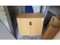 2 door storage cabinet in light maple