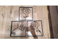 Iron floral wall decoration/ornament vintage