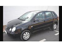 2004 VW POLO 1.4 5 DOOR BLACK MOT