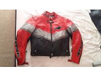 Alpinestars women's motorcycle leather jacket and trousers.