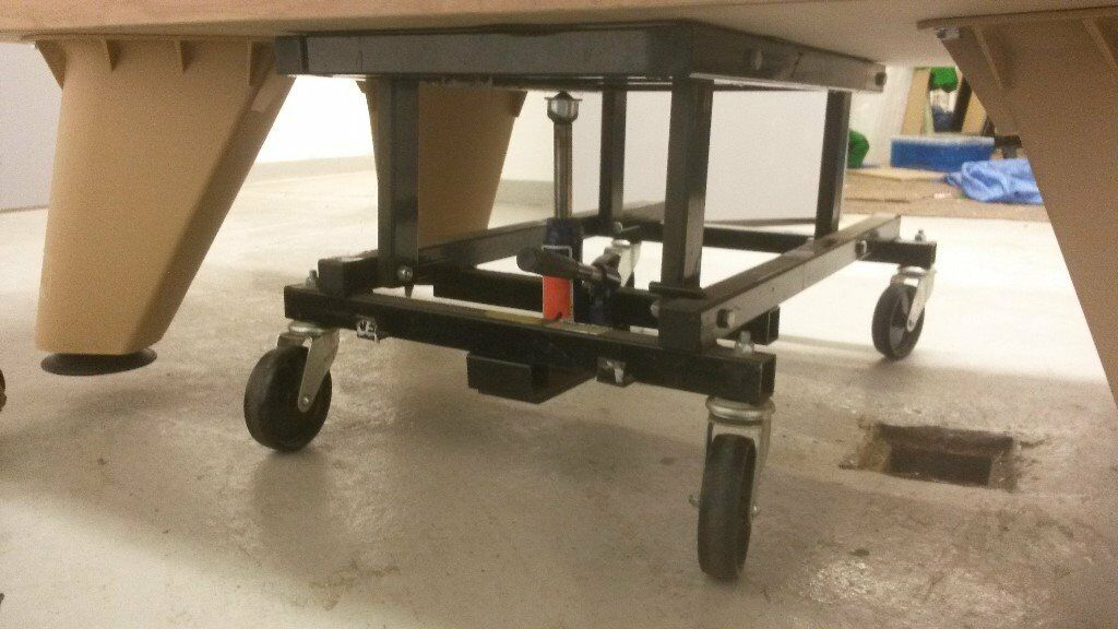 Hydraulic Pool Table Lifting Trolley In Huddersfield West - Lifting a pool table
