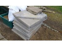 13 Council paving slabs 900mm x 600mm x 50mm
