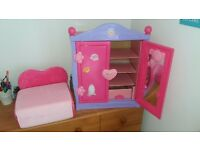 Pink Builder Bear Wardrobe & Hangers. Builder Bear Pink Bed. 11 outfits. 4 pairs shoes.Nearly new