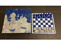 Large Luxury Frosted GLASS CHESS BOARD SET