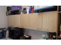 Used kitchen cupboard units including set of drawers - Wickes - maple colour - Utility room/Garage?