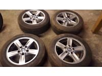 Bmw 16 Alloy Wheels run flat tyres Part Ex Welcome CAN SELL SINGLE CAN POST
