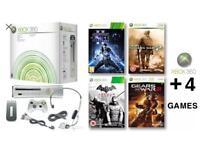 Xbox 360 Console + 4 Games