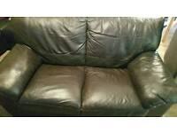 3 + 2 seater leather sofa