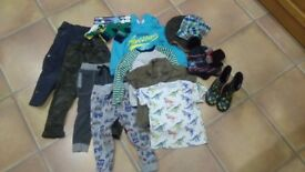 Clothes Bundle 3-4 4-5 Wellies Trousers Tops Hats