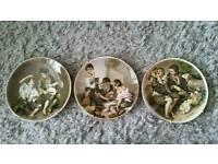 Crown Staffordshire Street Urchin Plates