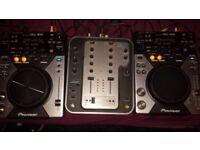 2x Pioneer CDJ 400 + Stanton m212 dj mixer