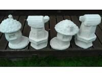Lovely Stone garden statues toadstools & windy miller