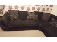 Black corner sofa excellent condition