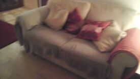 2 x 2 seater sofas with foot stool