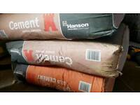 3 x bags of cement