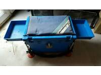 Large fishing seat box with legs