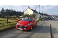 Peugeot 207 cc 1.6HDI 2007 convertible (cheap on fuel and insurance)