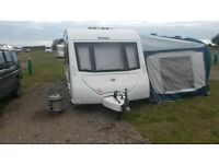 Elddis Avante 624 4 berth caravan with awning and fixed bed