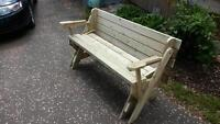 Folding picnic table/bench seats for sale