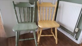 Wooden Restored Shabby Chic Chairs