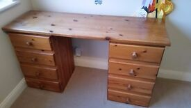 Pine Dressing Table With 8 Draws - Need To Be Sold Quickly