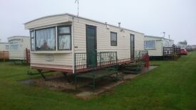 STATIC CARAVAN FOR HIRE GOLDEN PALM RESORT CHAPEL ST LEONARDS