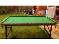Snooker/ pool table with all accessories plus 2 cues