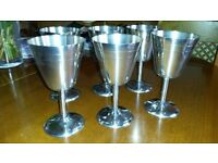 Stainless Steel Wine Goblets