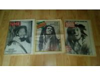 3 x bob marley music magazines 70's / 80's nme / record mirror