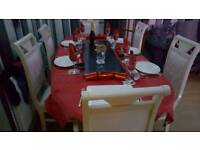 ITALIAN STYLE stunning table and 6 chairs