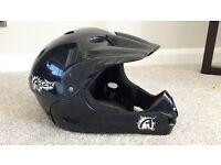 Apex Black Full Face Junior Helmet