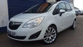 2011 VAUXHALL MERIVA 1.4 EXCLUSIV LIMITED E WHITE FSH IMMACULATE LOW MILEAGE